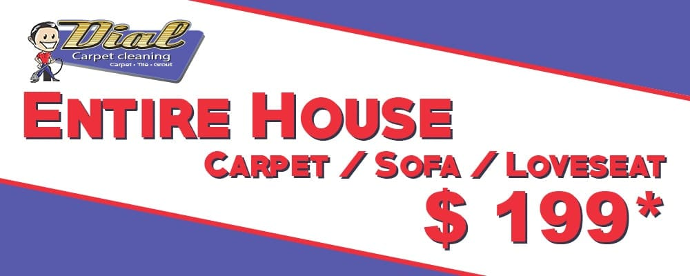 Dial Carpet Cleaning - $199 Entire House Coupon