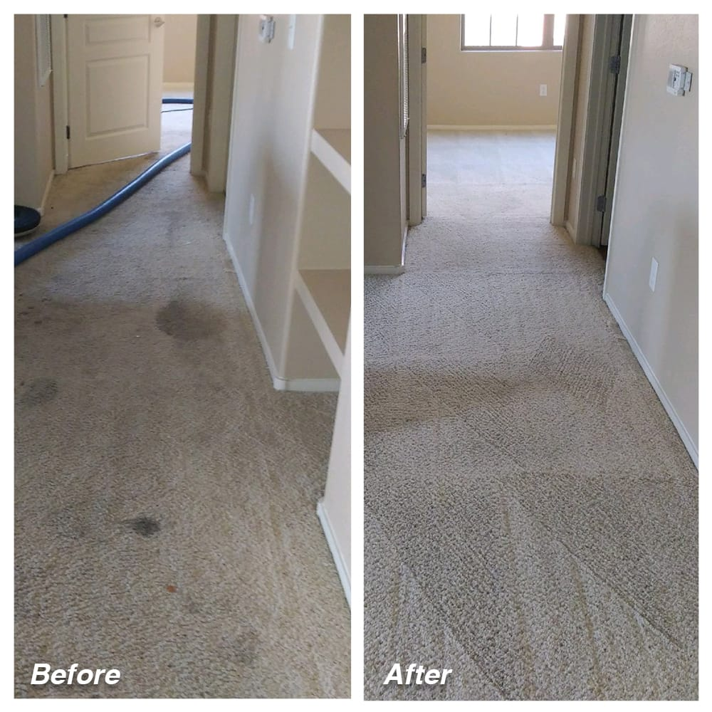 Dial Carpet Cleaning - Before and After - Hallway Carpet