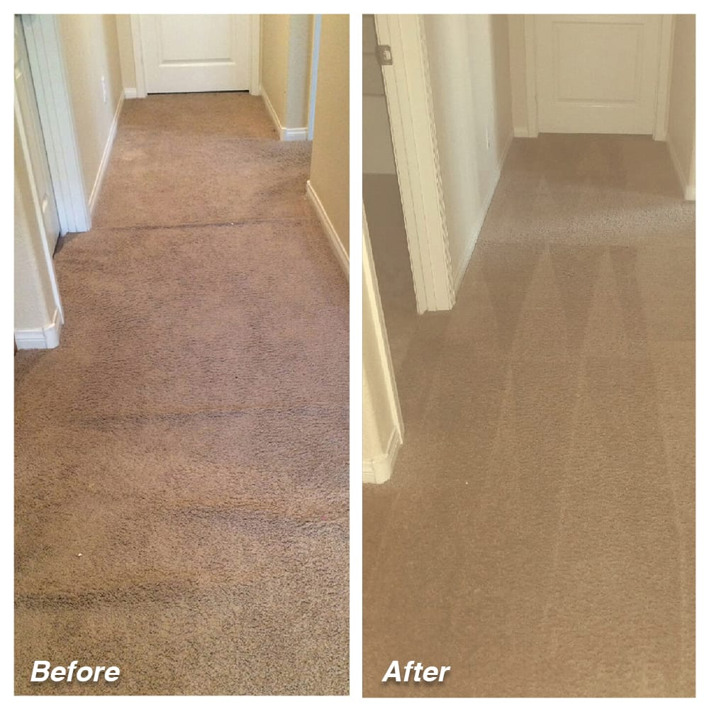 Dial Carpet Cleaning - Before and After - Hallway